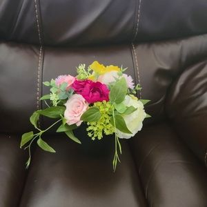 Mixed Spring Artificial Flower Potted Plant